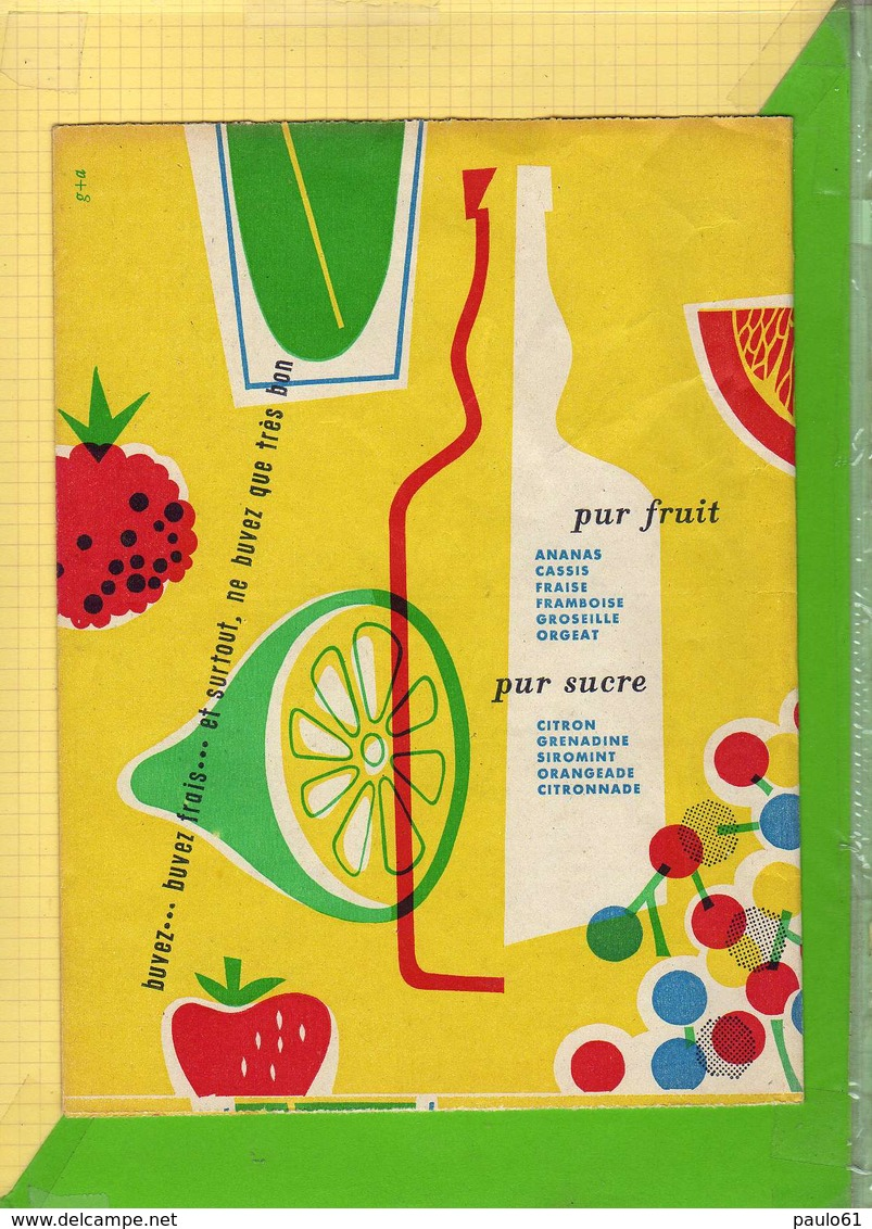 Protege Cahier : Sirops CUSENIER Fruits - Protège-cahiers