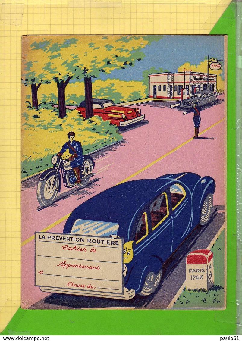 Protege Cahier : Prevention Routiere Voiture Moto Pompe A Essence - Protège-cahiers