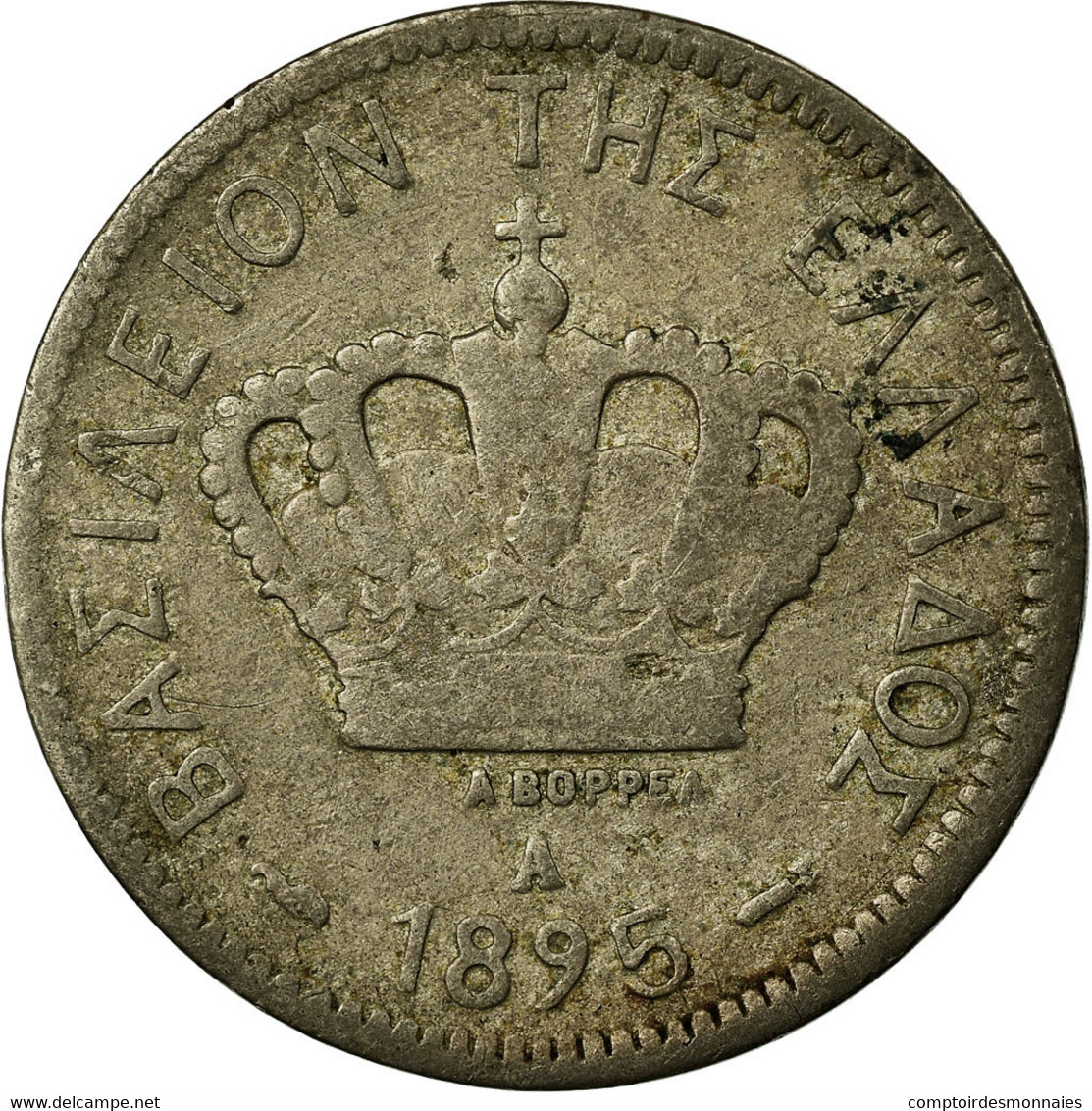Monnaie, Grèce, George I, 10 Lepta, 1895, Paris, TB, Copper-nickel, KM:59 - Grèce