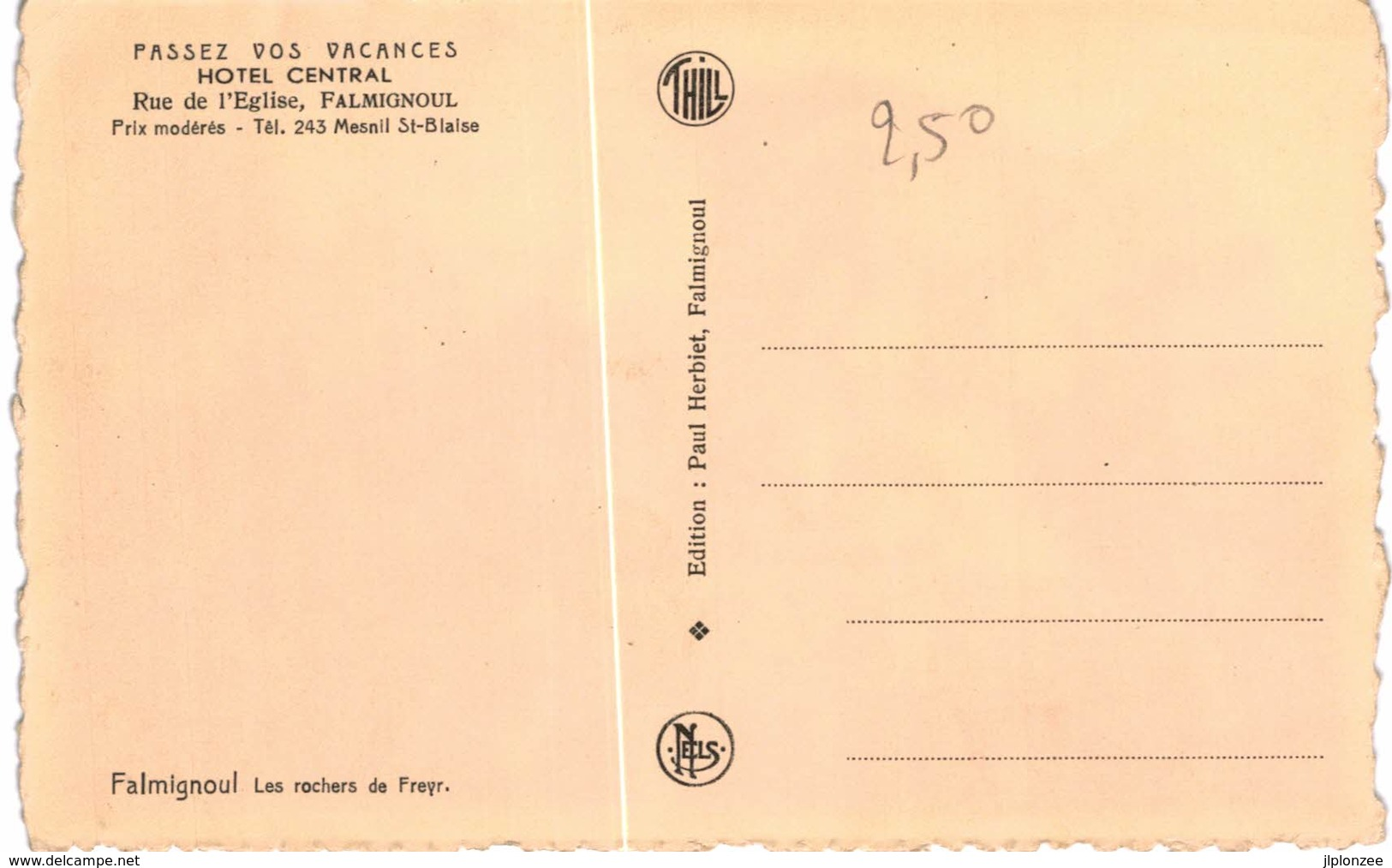 FALMIGNOUL  Les Rochers De Freyr. Grand Format. - Beauraing