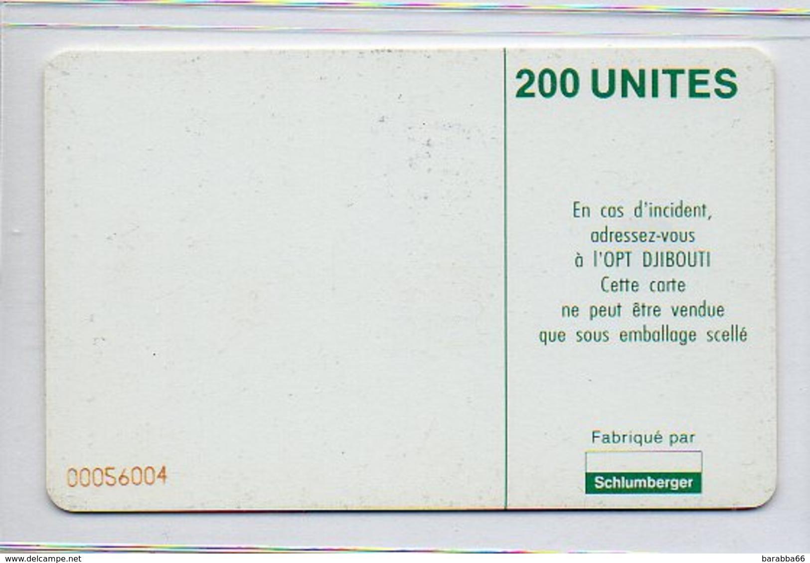 TELECARTE - 200 UNITES - Djibouti