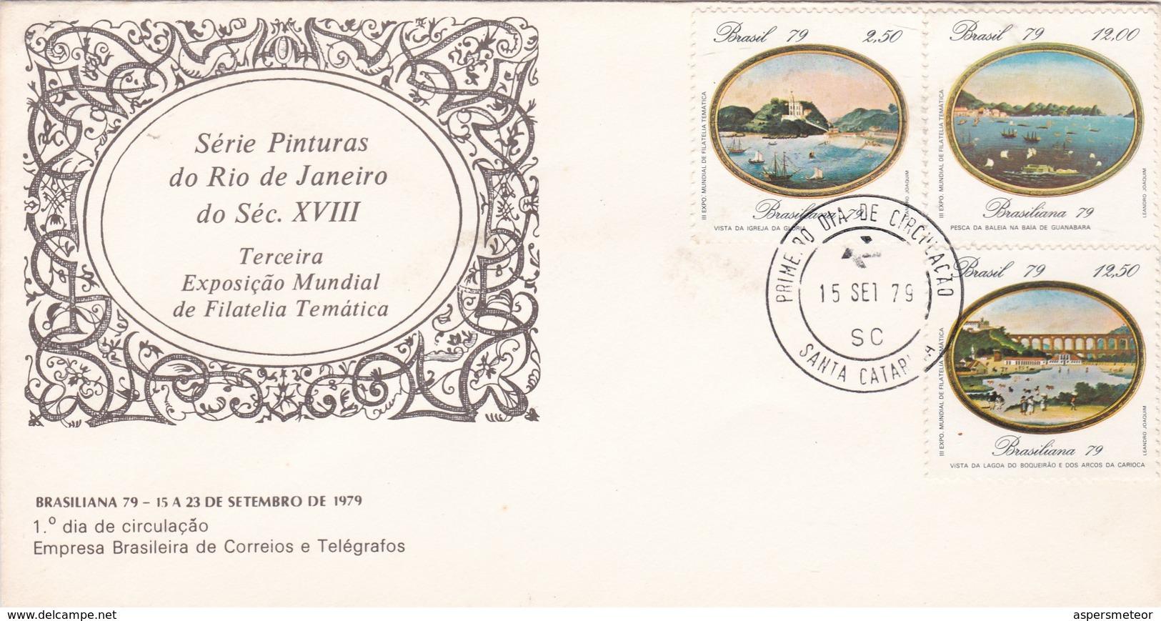 SERIE PINTURAS DO RIO DE JANEIRO DO SEC XVIII-FDC 1979 SANTA CATARINA - BLEUP - Arte