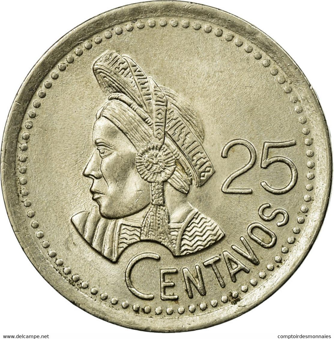 Monnaie, Guatemala, 25 Centavos, 1995, TTB, Copper-nickel, KM:278.5 - Guatemala