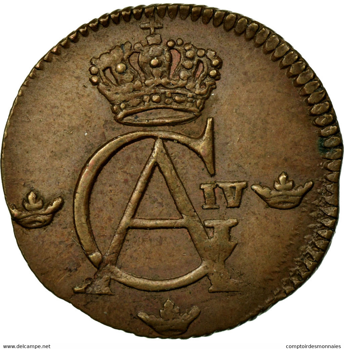 Monnaie, Suède, Gustaf IV Adolf, 1/12 Skilling, 1808, TTB, Cuivre, KM:563 - Suède