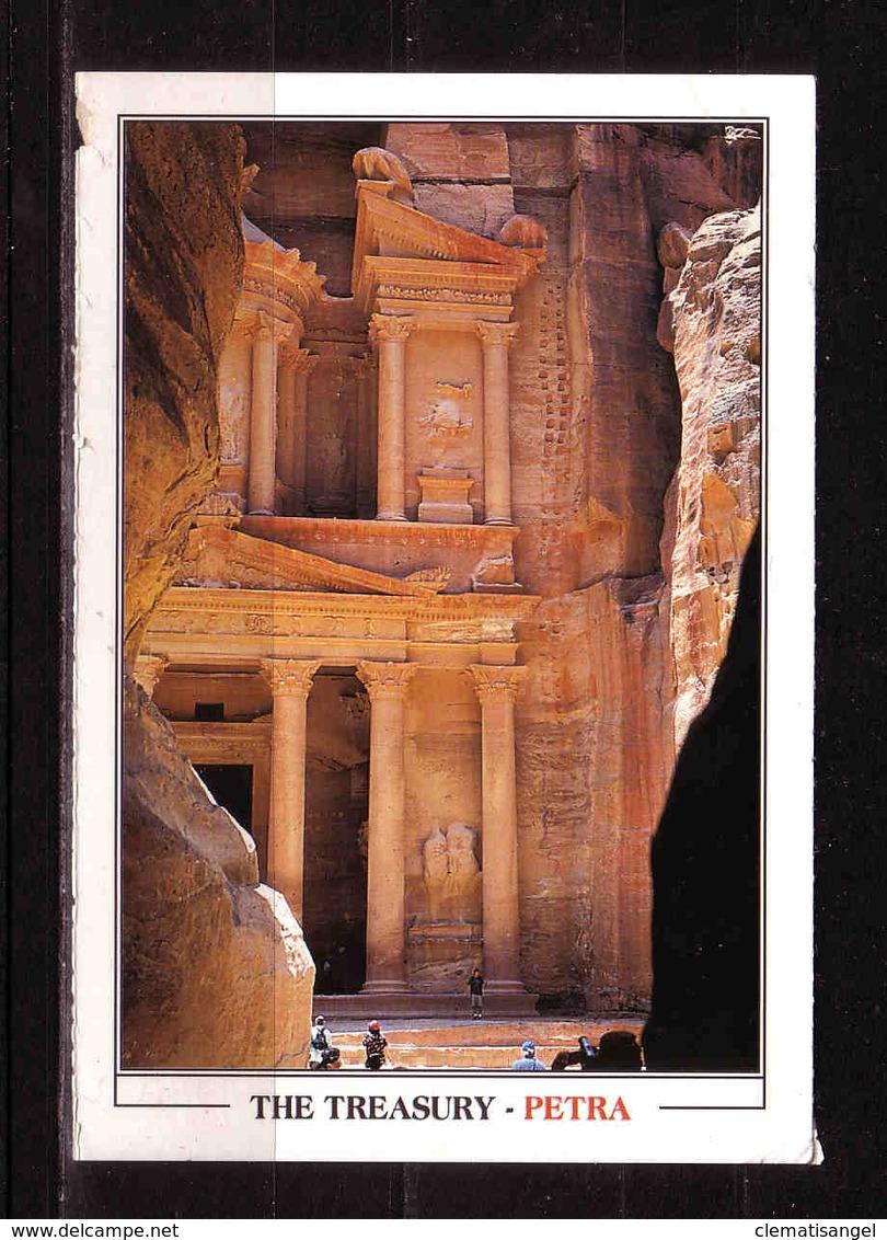 145d * KARTE MIT ÜBERDRUCKMARKE UND SCHÖNEN STEMPEL VON THE TREASURY IN PETRA * 2012 *!! - Jordanien