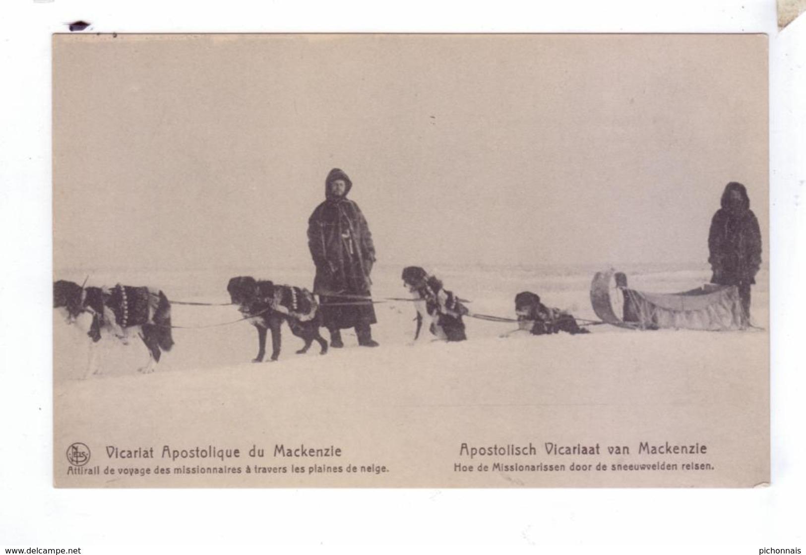 Missionnaires Traineau A Chiens Dog Sled Vicariat Apostolique  Du  MacKenzie River District Canada - Yukon