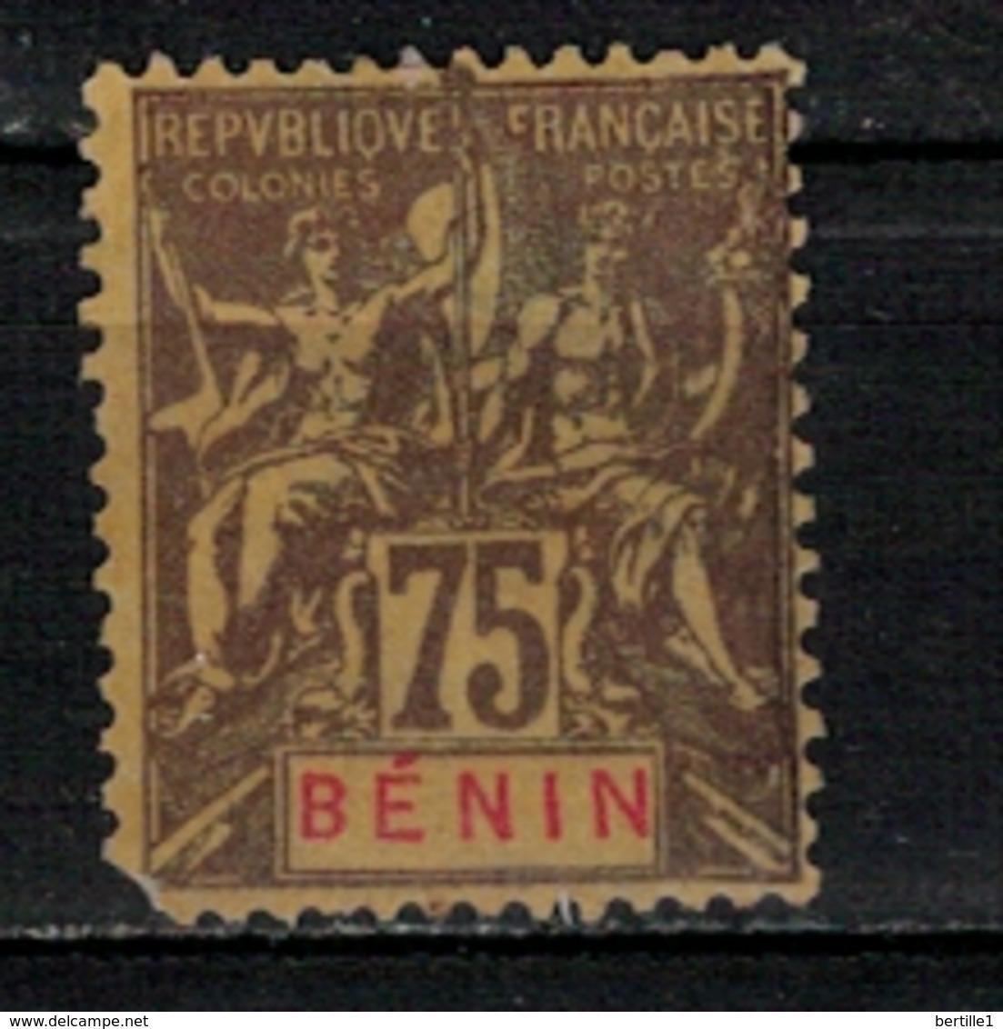 BENIN          N°  YVERT  :  44 ( 2° Choix )       NEUF AVEC  CHARNIERES      ( Ch 1/23  ) - Bénin (1892-1894)