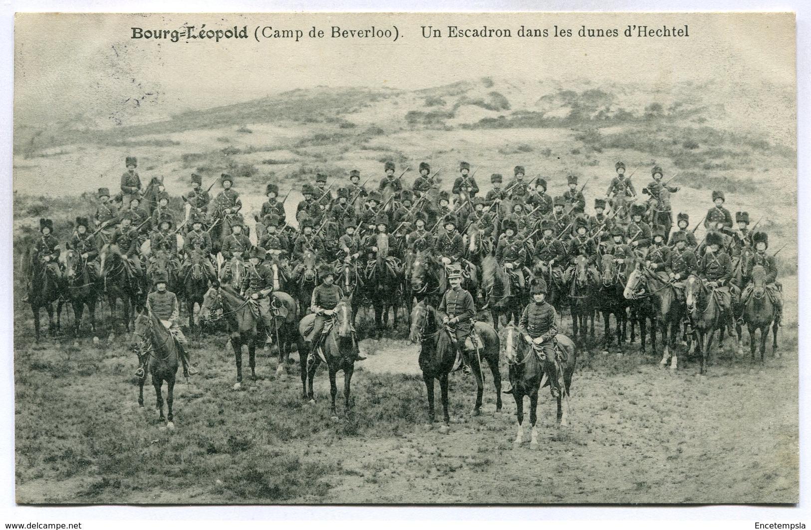 CPA - Carte Postale - Belgique - Bourg Léopold - Camp De Beverloo - Un Escadron Dans Les Dunes D'Hechtel - 1912 (M7427) - Leopoldsburg (Camp De Beverloo)