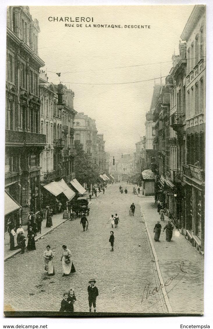 CPA - Carte Postale - Belgique - Charleroi - Rue De La Montagne, Descente - 1910 (M7434) - Charleroi