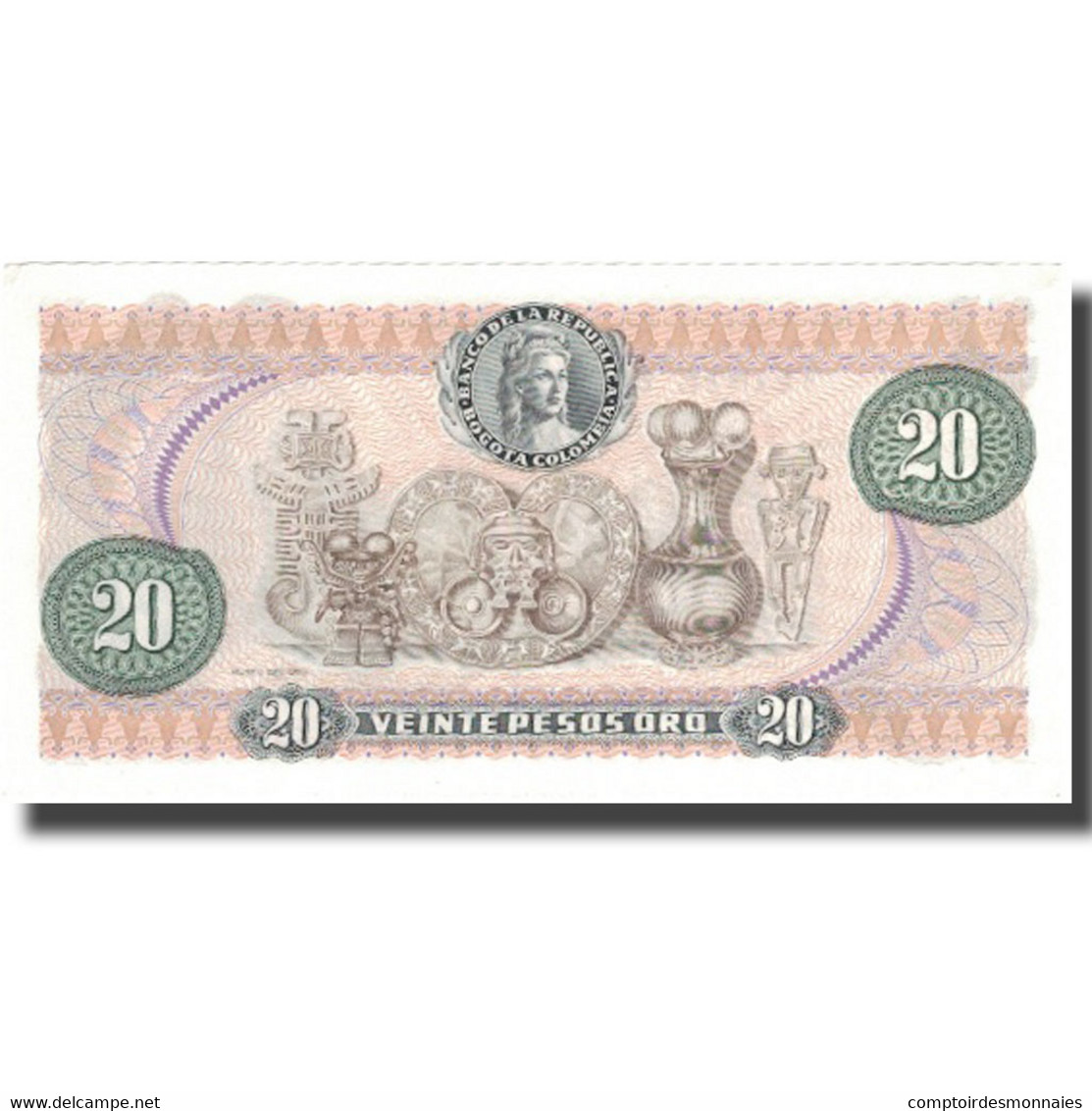 Billet, Colombie, 20 Pesos Oro, 1982, 1982-01-01, KM:409d, SPL - Colombie