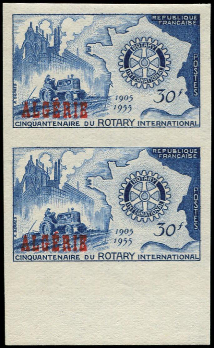 ** ALGERIE - Poste - 328a, Paire Non Dentelée: 30f. Rotary. - Algerien (1924-1962)