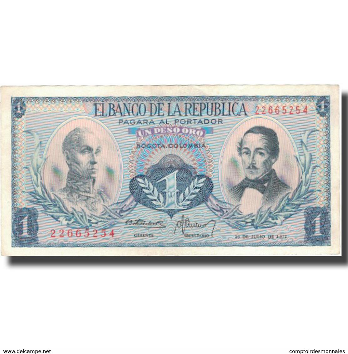 Billet, Colombie, 1 Peso Oro, 1972, 1972-07-20, KM:404e, TTB+ - Colombie