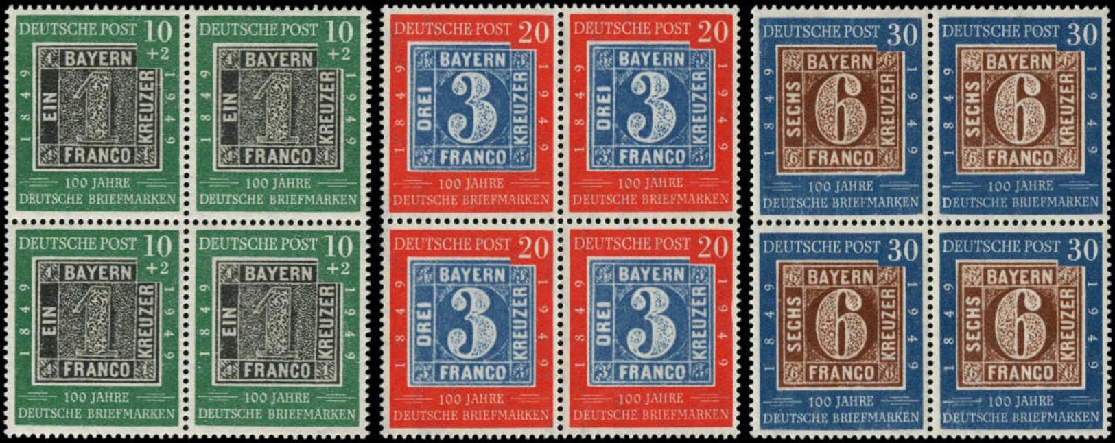 ** ALL. BUNDESPOST - Poste - 2A/C, Blocs De 4: Centenaire Du Timbre - Unclassified