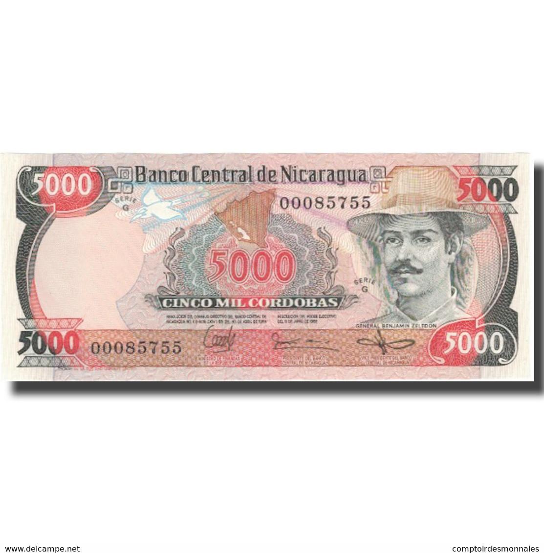 Billet, Nicaragua, 5000 Cordobas, L.1985 (1987), KM:146, NEUF - Nicaragua