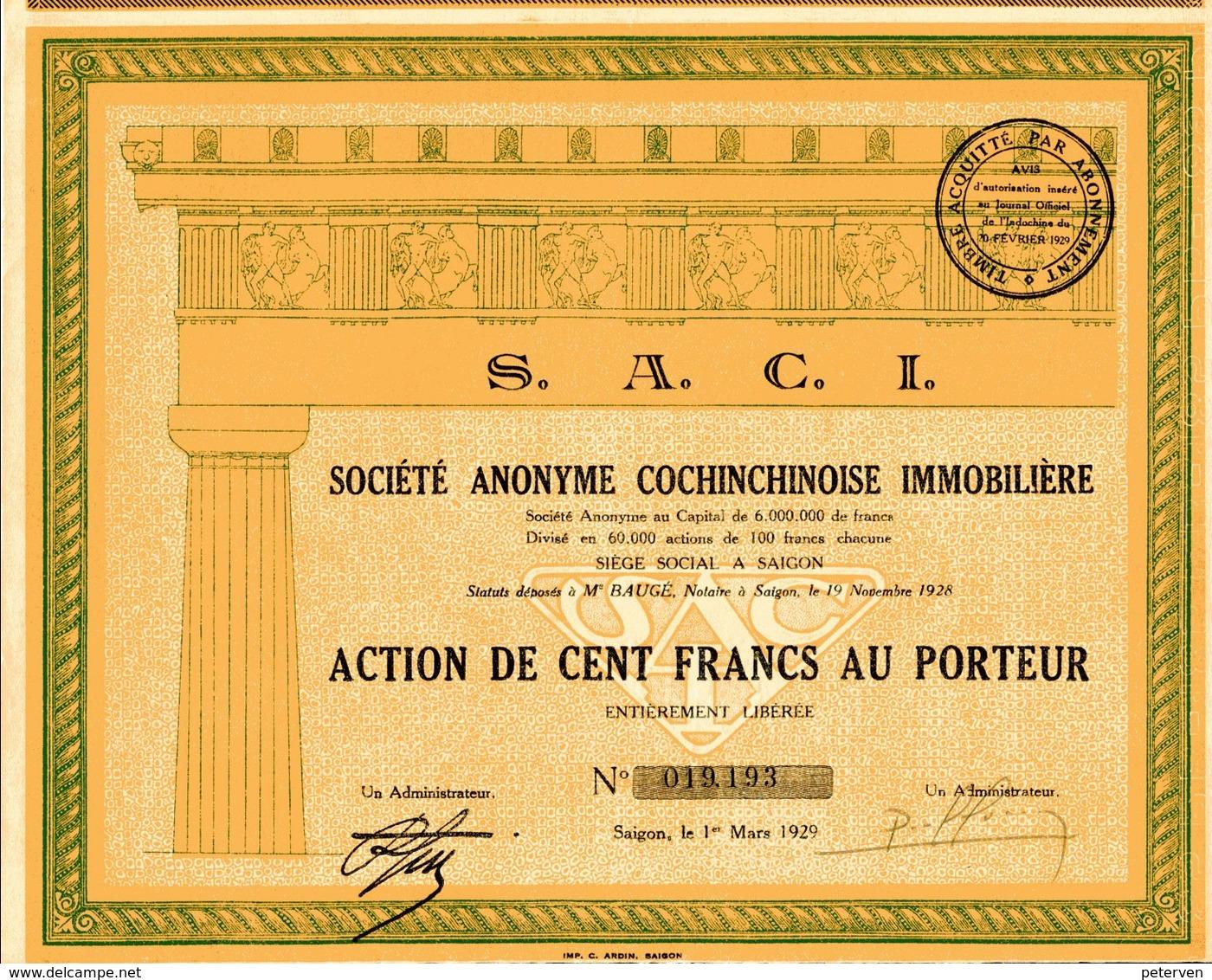 S.A.C.I - Société Anonyme Cochinchinoise Immobilière - Asie