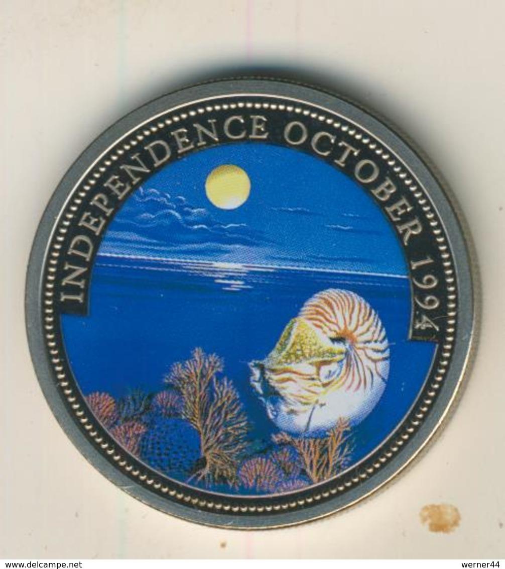 Rebublic Of Palau, 1 Dollar, Farbmünze,stgl.,1994, Independence October  (54010) - Palau
