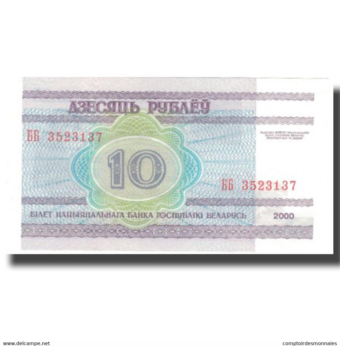 Billet, Bélarus, 10 Rublei, 2000, 2000, KM:23, NEUF - Russie