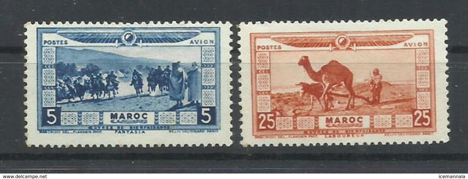 MARRUECOS YVERT AEREO   12/13  MH  * - Marruecos (1891-1956)