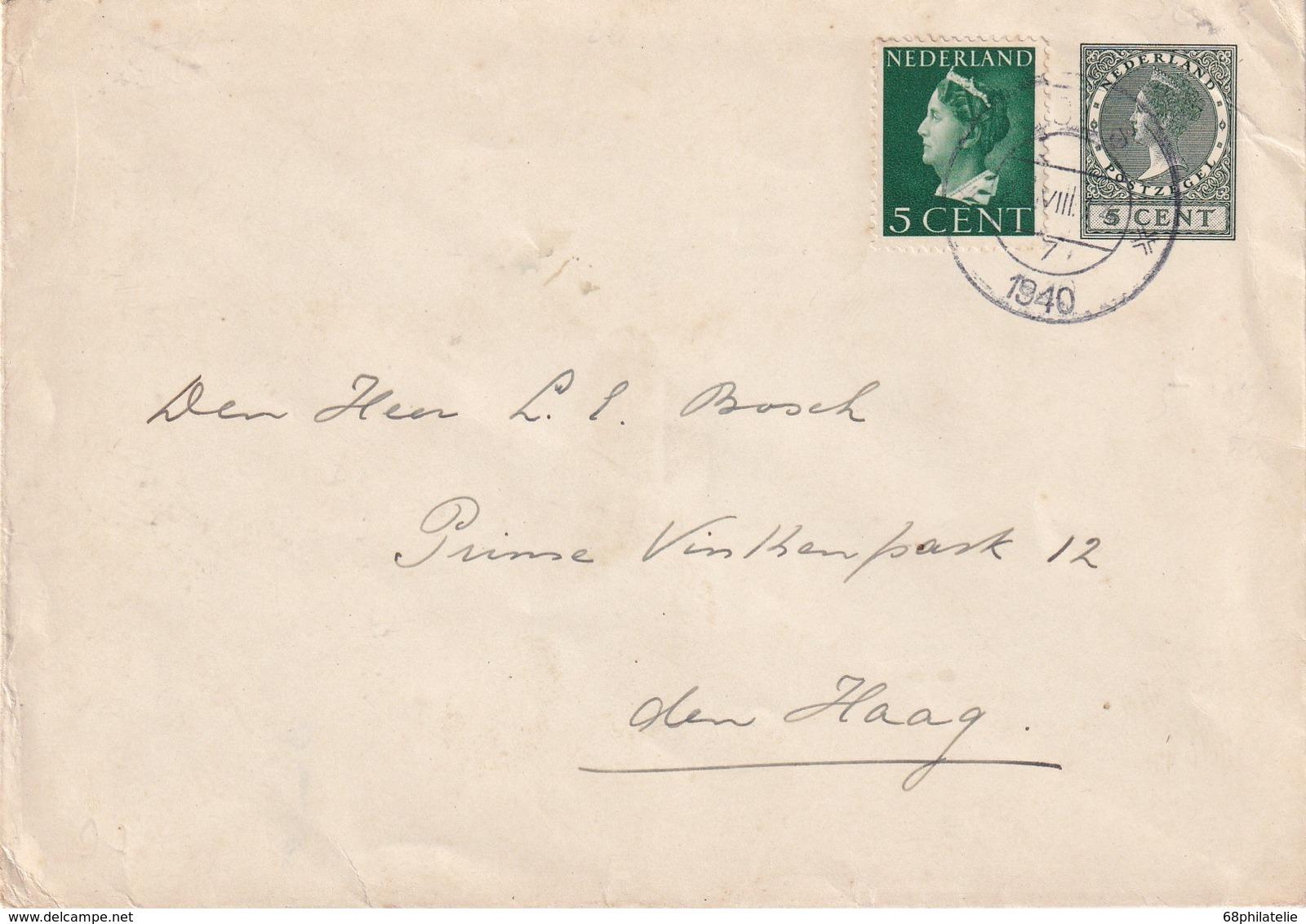 PAYS-BAS 1940 LETTRE POUR DEN HAAG - Cartas