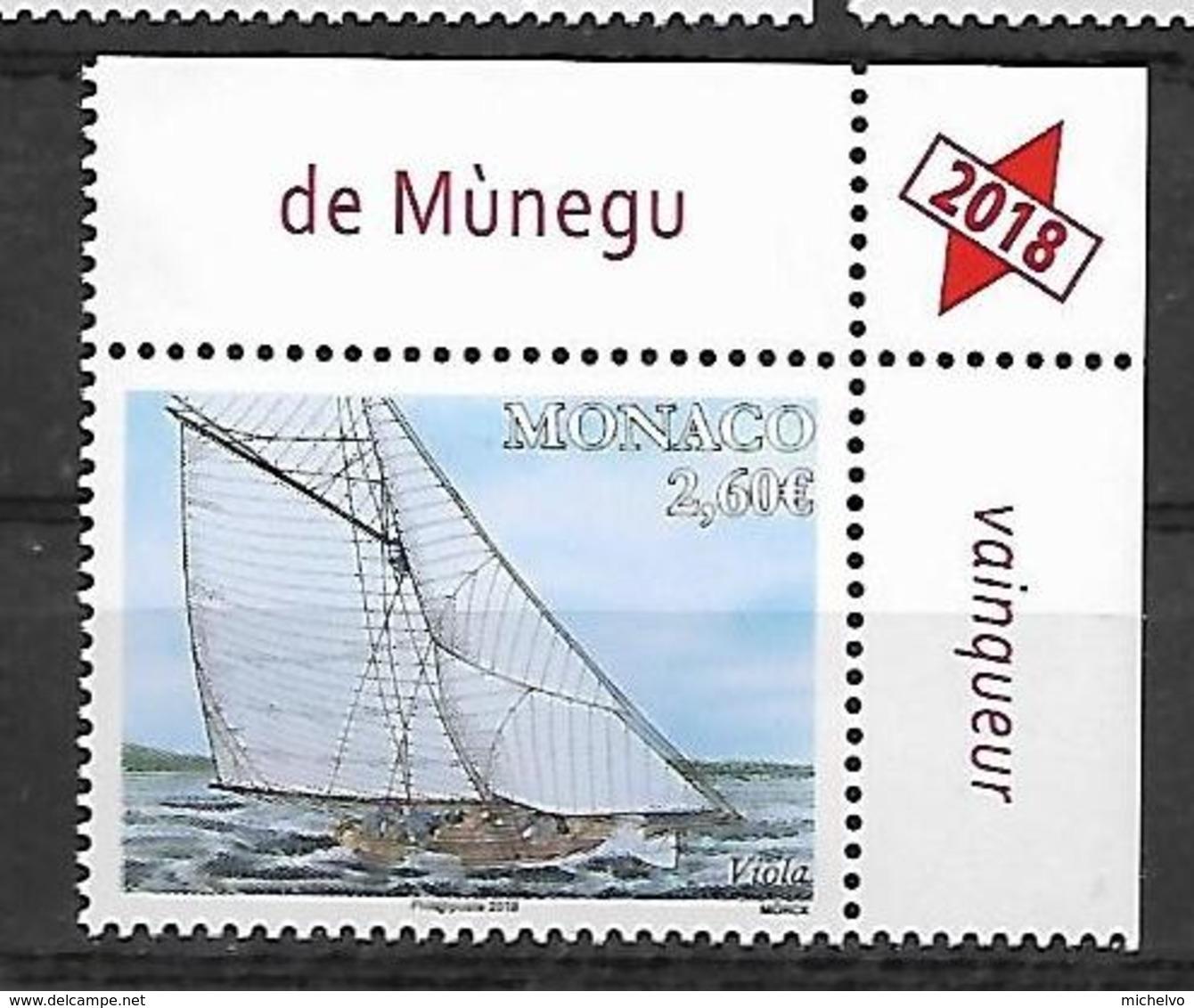 Monaco 2018 - Yv N° 3161 ** - YACHTING : Viola - Monaco