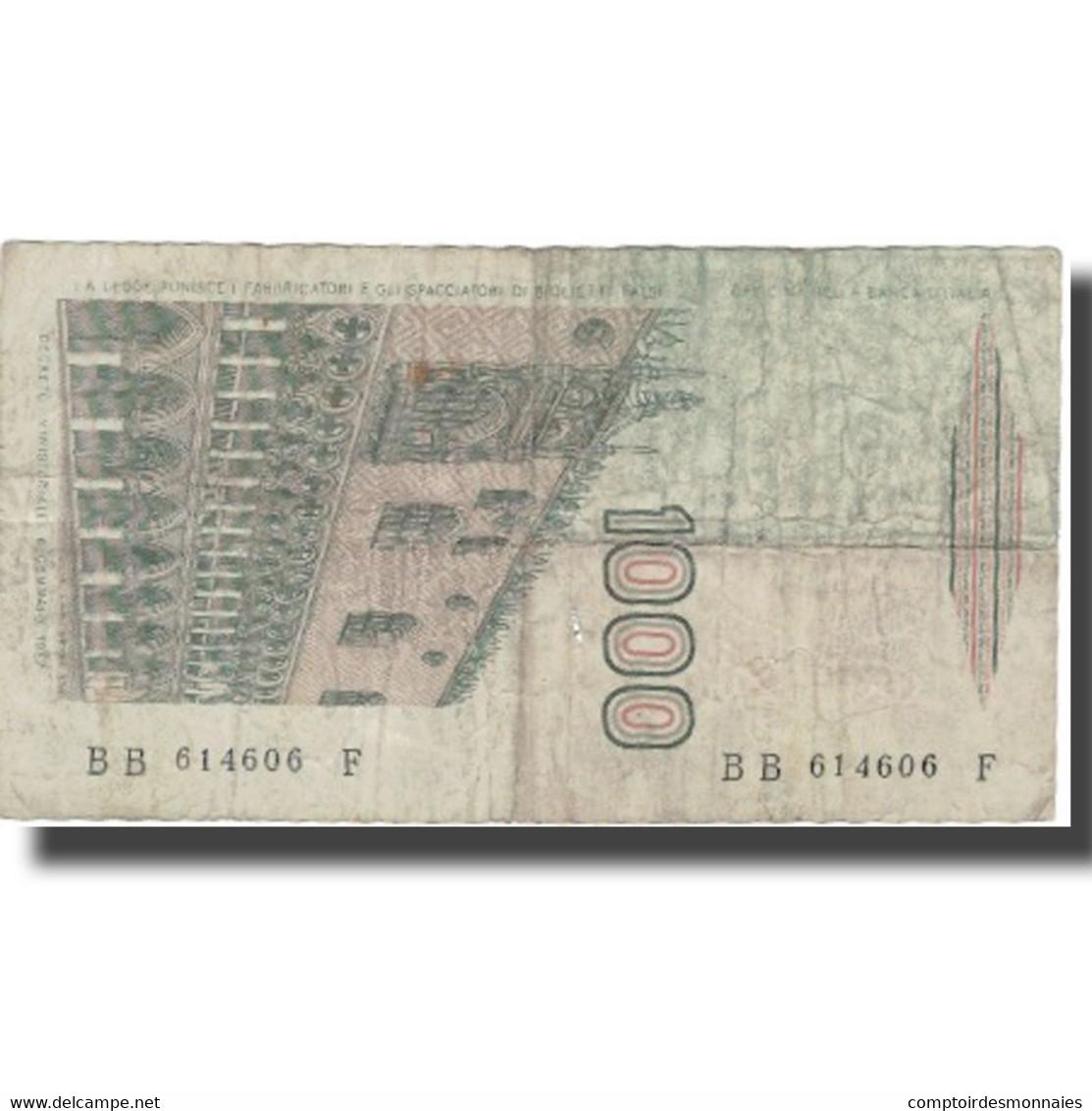 Billet, Italie, 1000 Lire, Undated (1982), KM:109a, TB - [ 2] 1946-… : République
