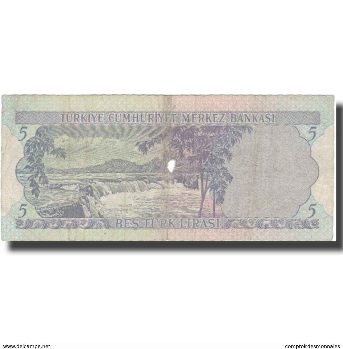 Billet, Turquie, 5 Lira, L.1970, L.1970, KM:179, B - Turquie