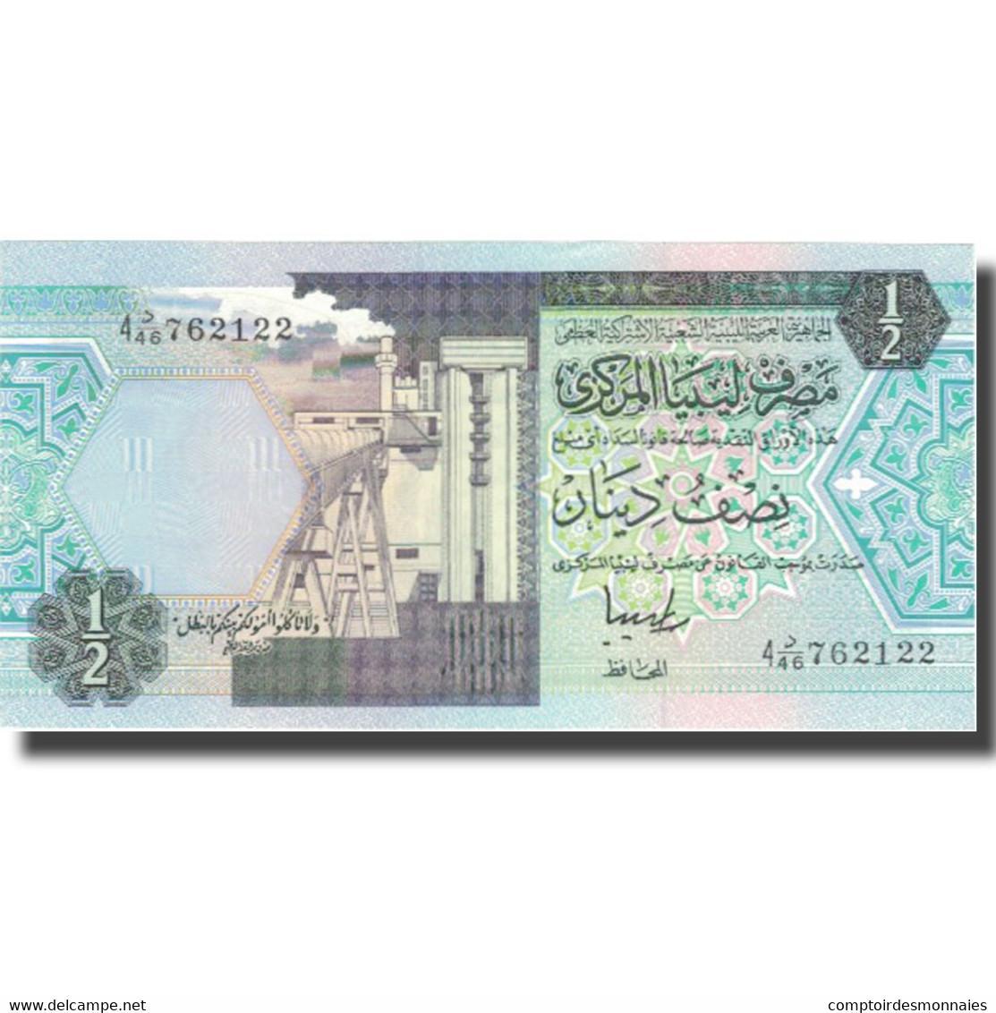 Billet, Libya, 1/2 Dinar, KM:63, NEUF - Libya