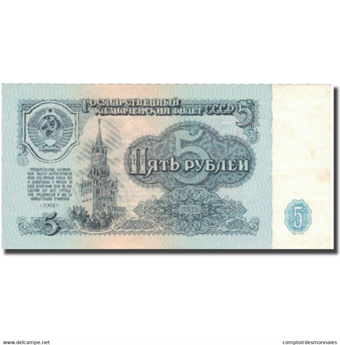 Billet, Russie, 5 Rubles, 1961, 1961, KM:224a, TTB+ - Russie