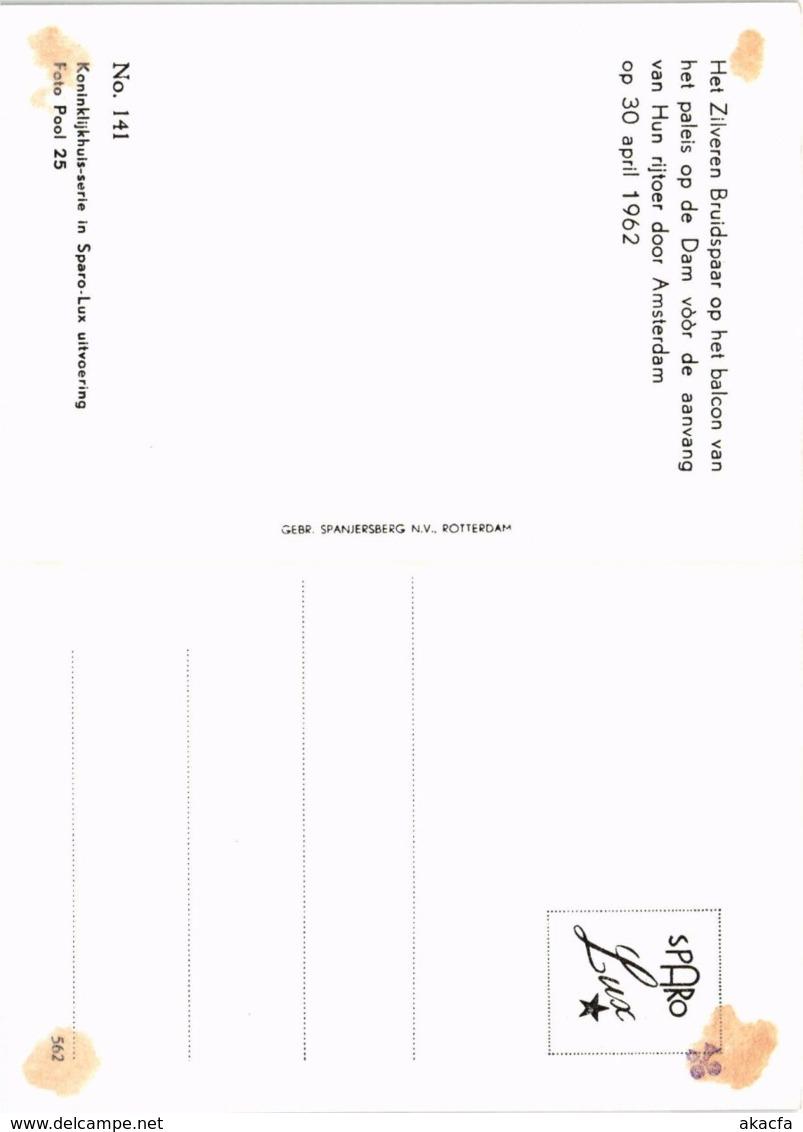 CPM Het Zilveren Bruidspaar DUTCH ROYALTY (820096) - Familles Royales