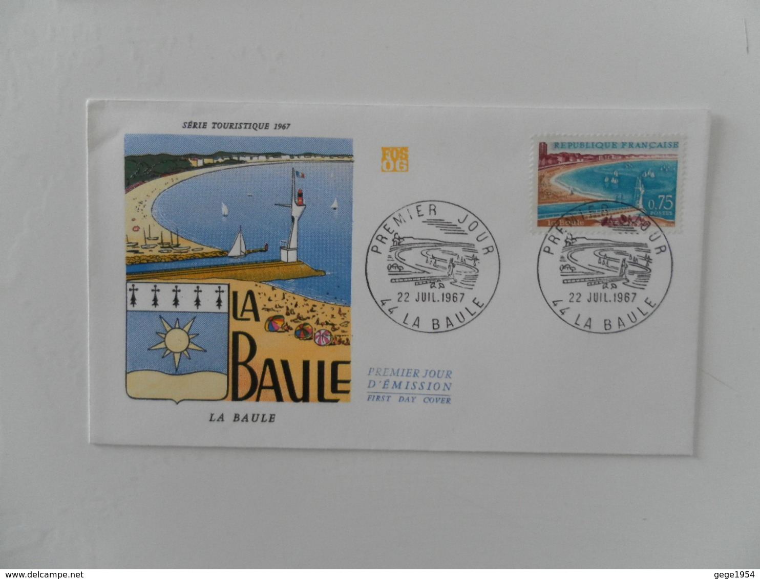 FRANCE FDC YT 1502 LA BAULE - FDC