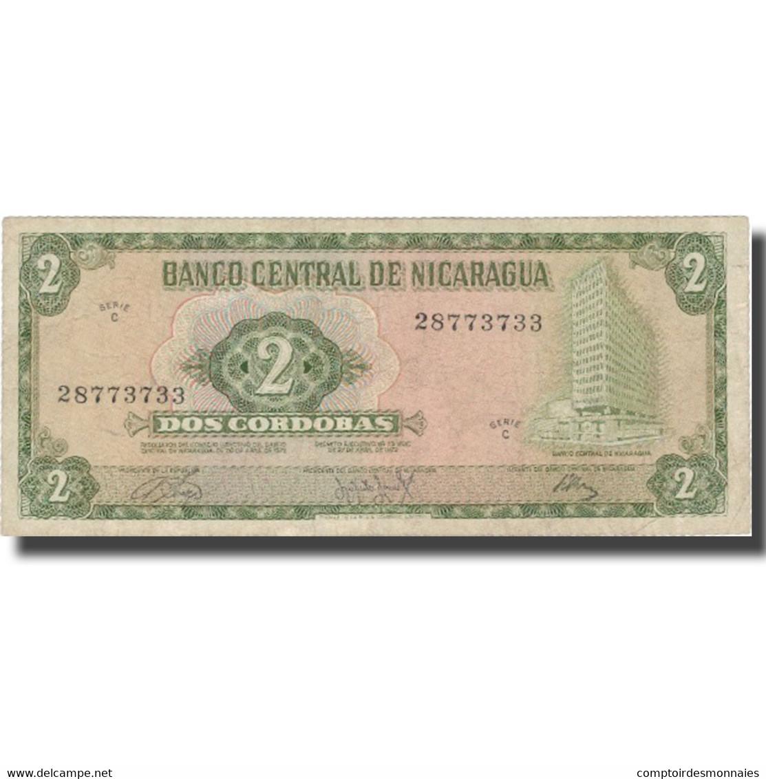 Billet, Nicaragua, 2 Cordobas, 1972, 1972, KM:121a, TB+ - Nicaragua