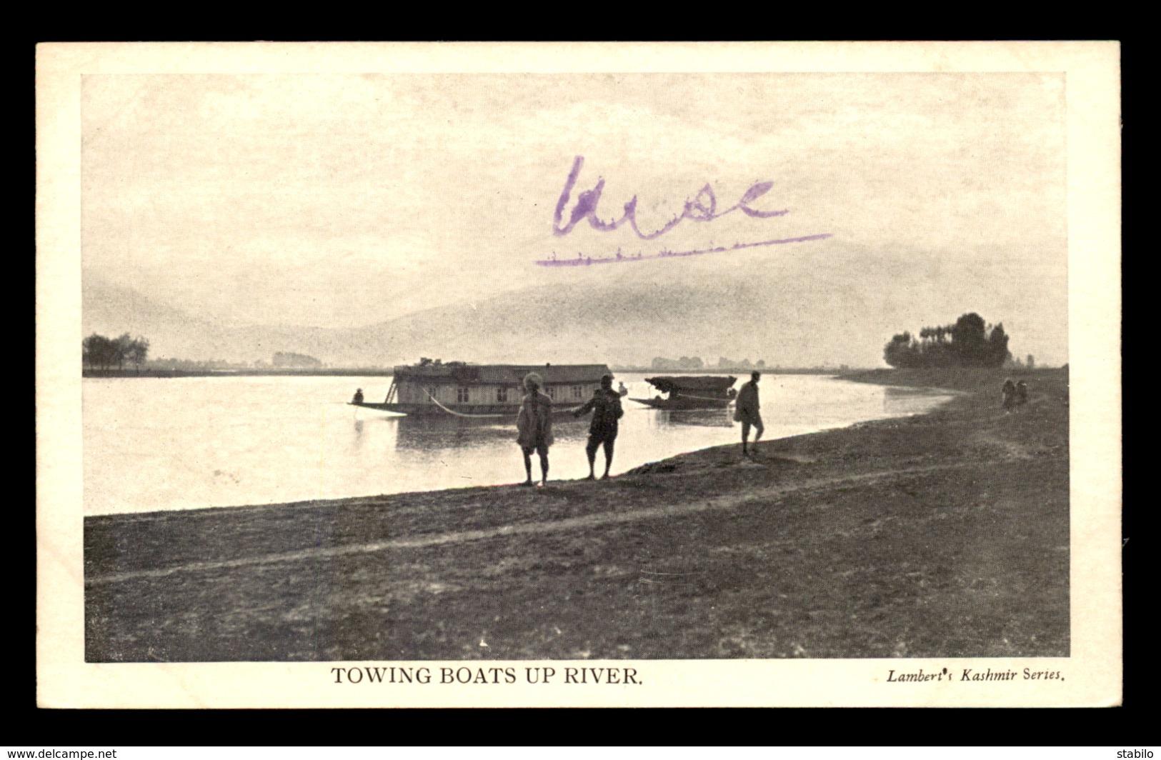 INDE - TOWING BOATS UP RIVER - Inde