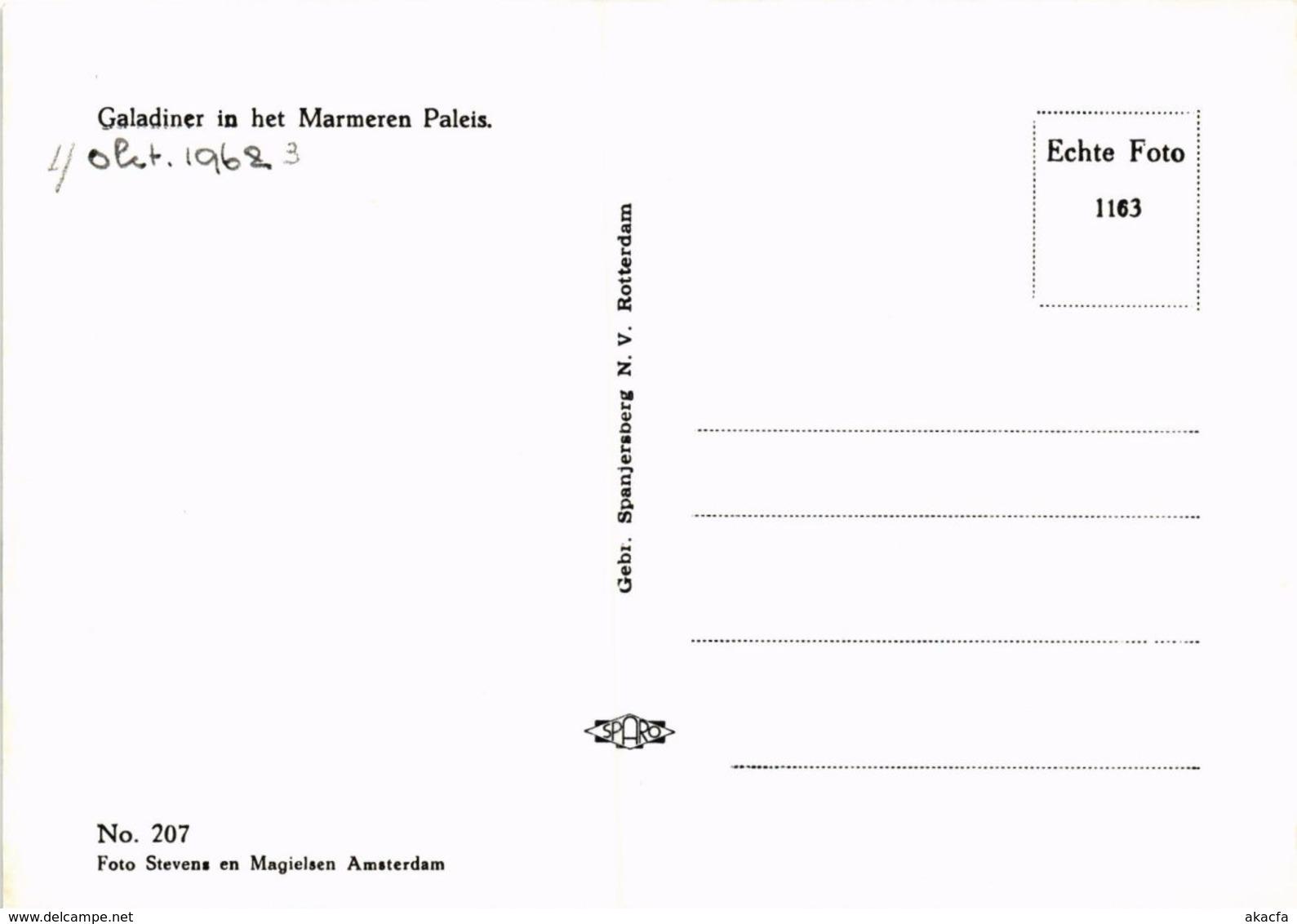 CPM Galadiner In Het Marmeren Paleis DUTCH ROYALTY (820905) - Familles Royales