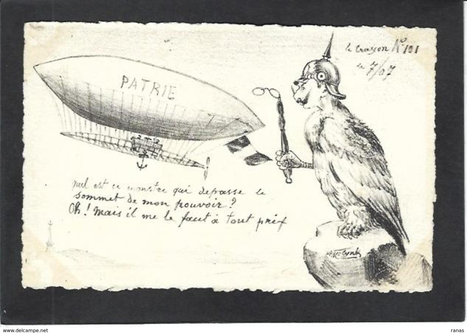 CPA Kaiser MOLYNK Satirique Caricature Estampe Tirage Limité Non Circulé Molynk Dirigeable Aviation - Illustrateurs & Photographes