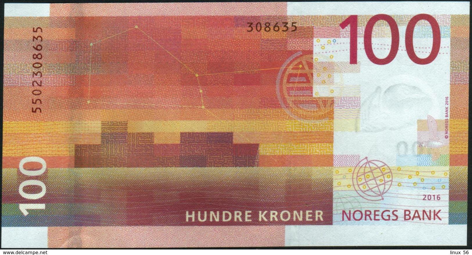 NORWAY - 100 Kroner 2016 UNC P.54 - Norvegia