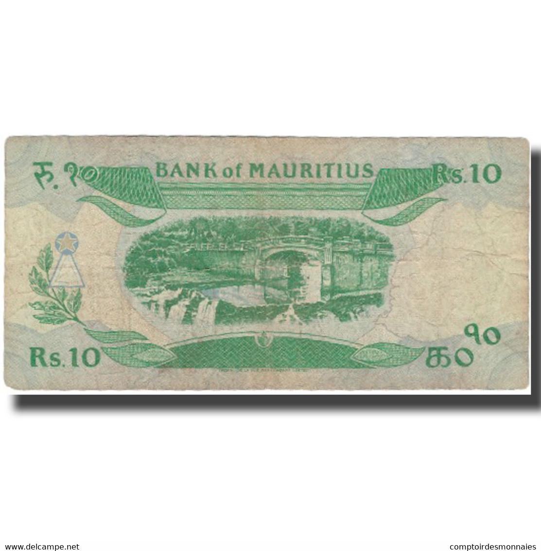 Billet, Mauritius, 10 Rupees, Undated (1985), KM:35b, TB - Maurice