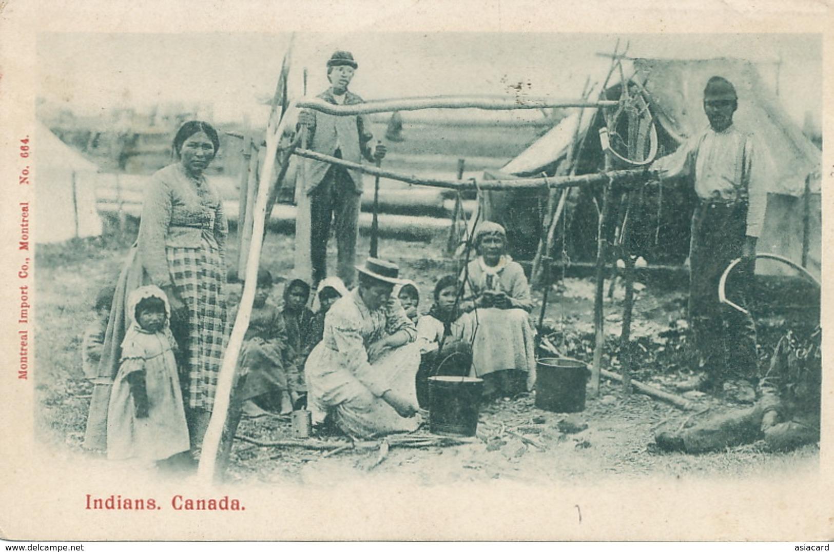 Indians  , Canada  Edit Montreal No 664  Used To Etretat - Canada
