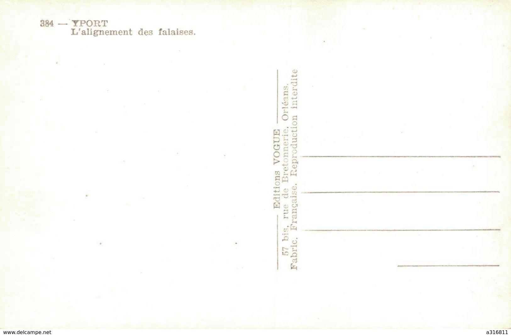 YPORT - L'ALIGNEMENT DES FALAISES - Yport