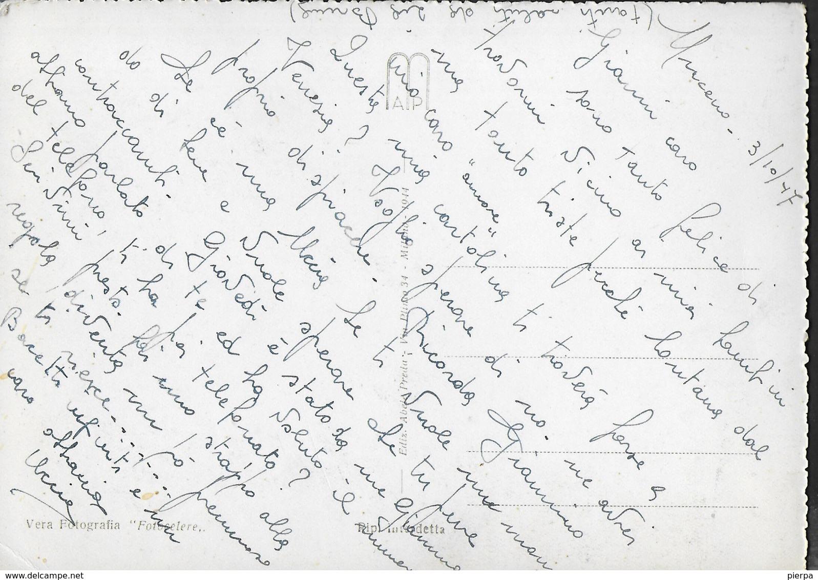 LAGO MAGGIORE - TRANQUILLITA' - EDIZ. PREDA MILANO 1944 - SCRITTA AL RETRO - Altri