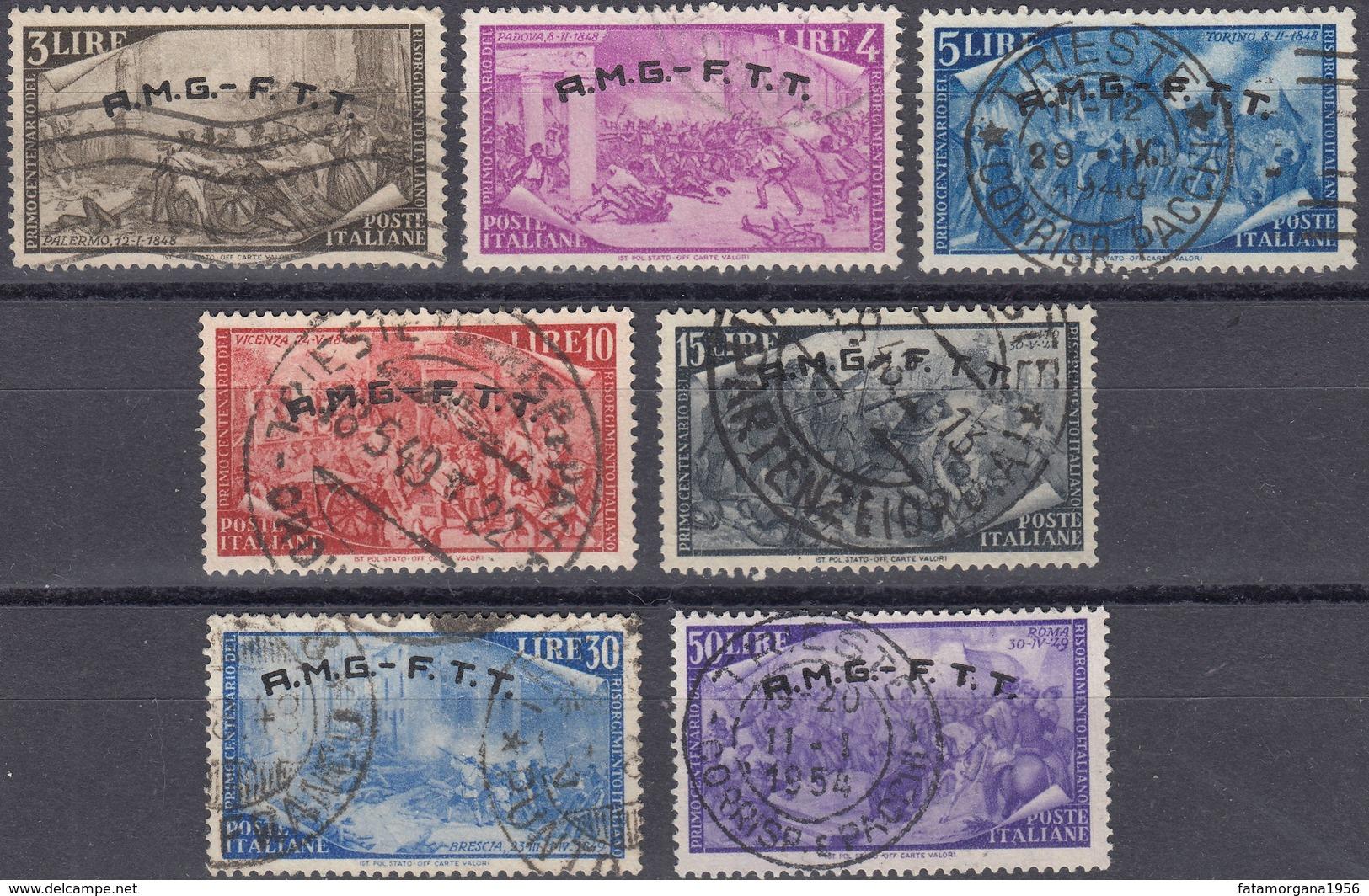 TRIESTE ZONA A - 1948 - Lotto Di 7 Valori Usati: Yvert 18/20, 23, 25, 57 E 28. - Gebraucht