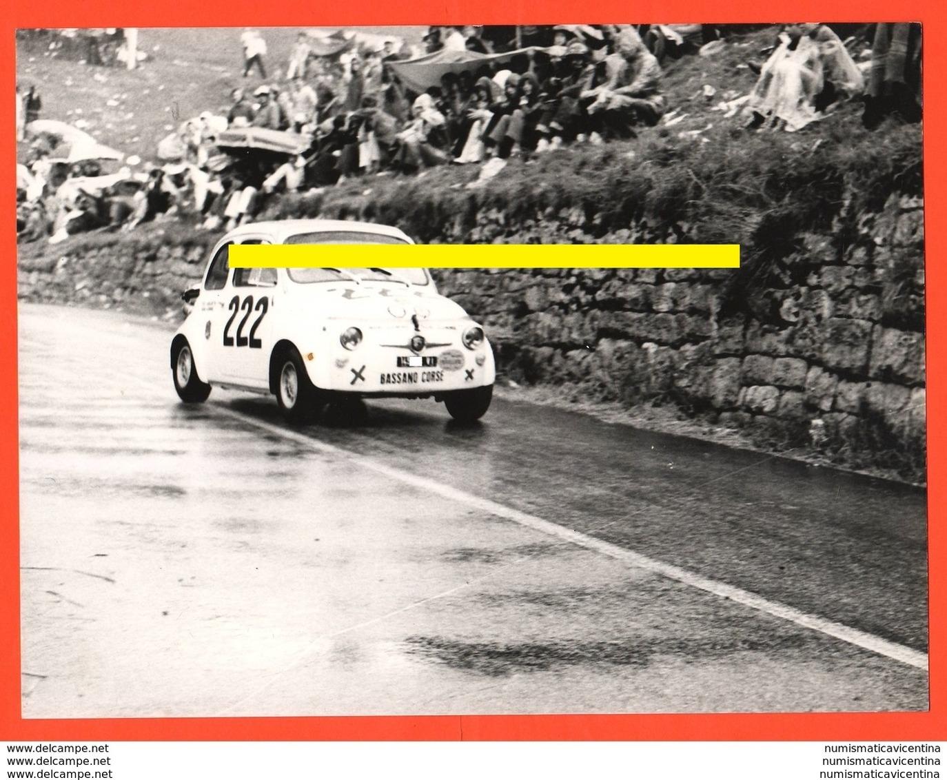 Rally FIAT 595 Cars Voitures Gare Romano Cima Grappa Team Bassano - Automobili