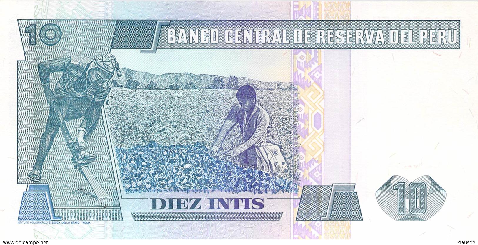 10 Diez Intis Banknote Peru - Peru
