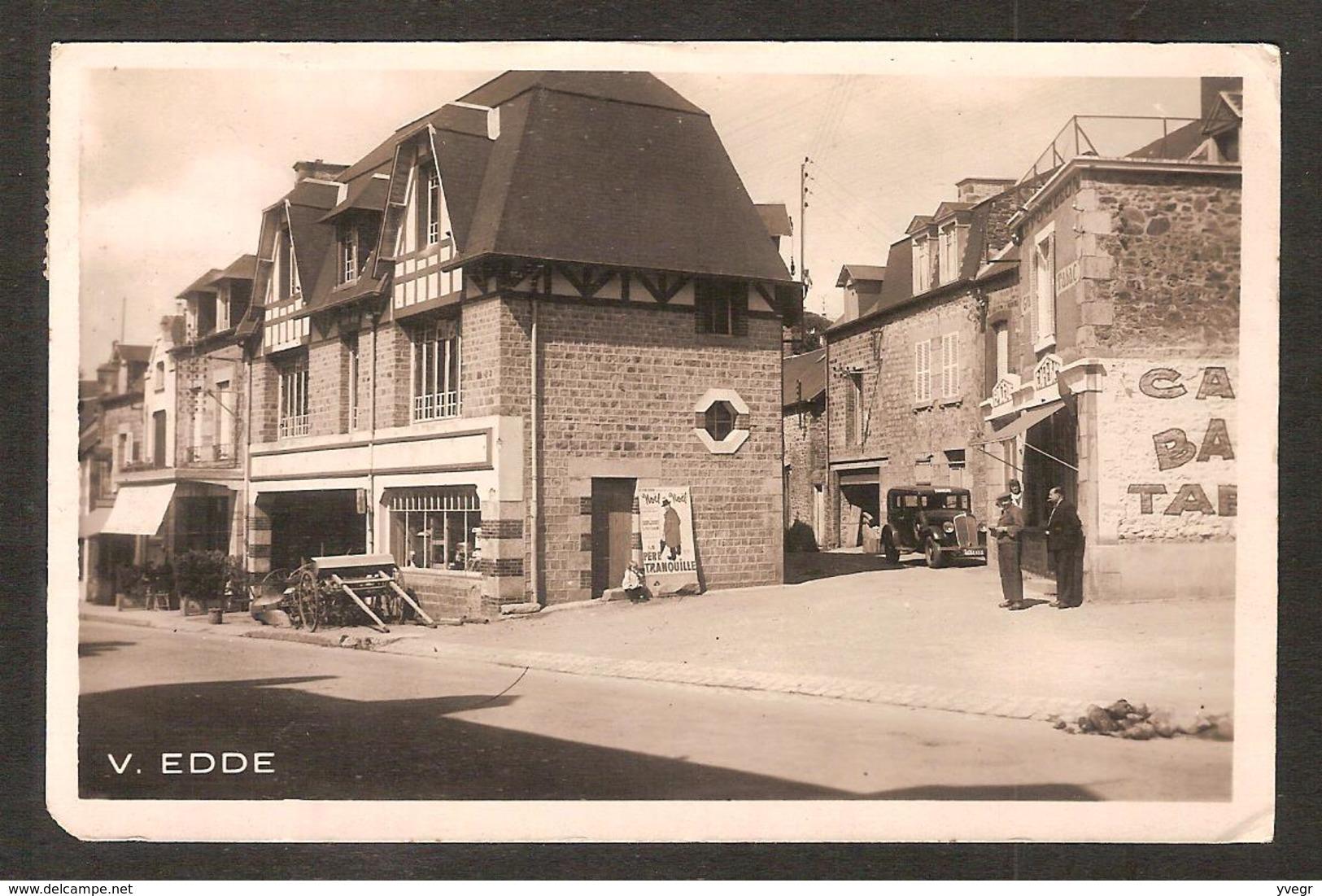 DUCEY ( 50 Manche ) La Grande Rue ( Edition FORGEON - V. EDDE ) Pub Noël , Le Père Tranquille , Café Bar Tabac - Ducey