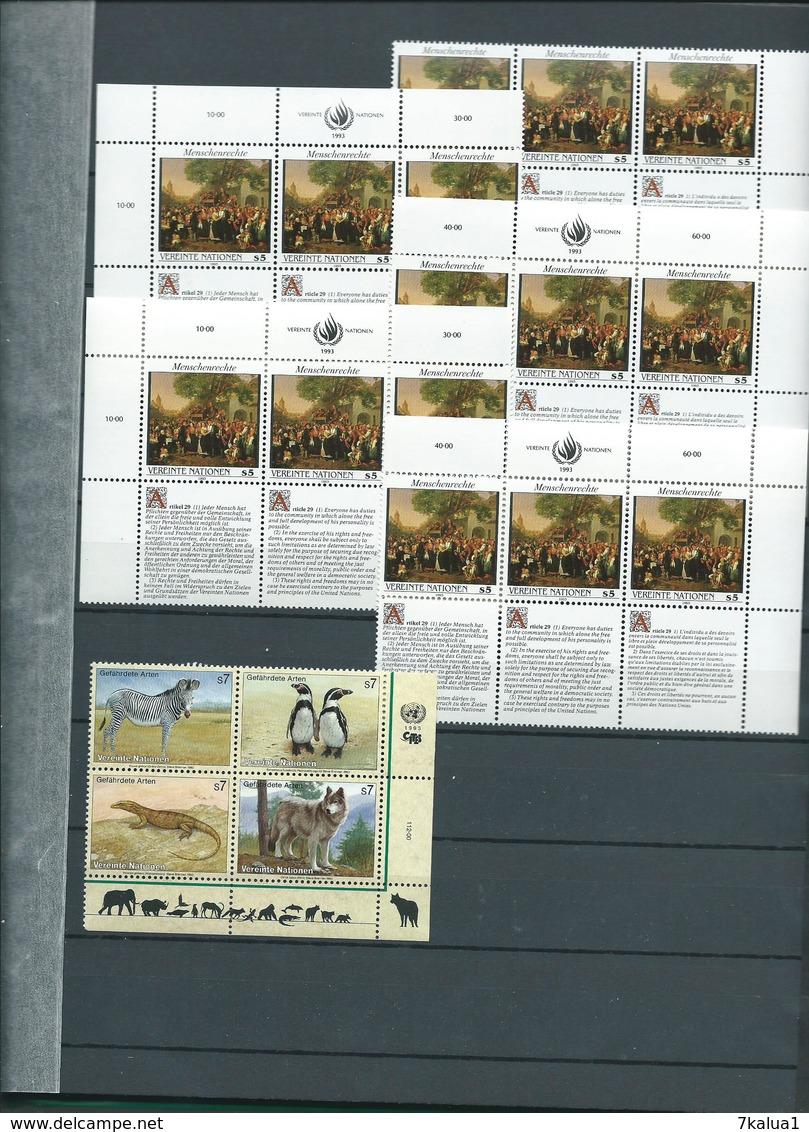 NATIONS UNIES : Lot De Neufs** Par Multiples Et Blocs Sur 7 Pages. - Timbres