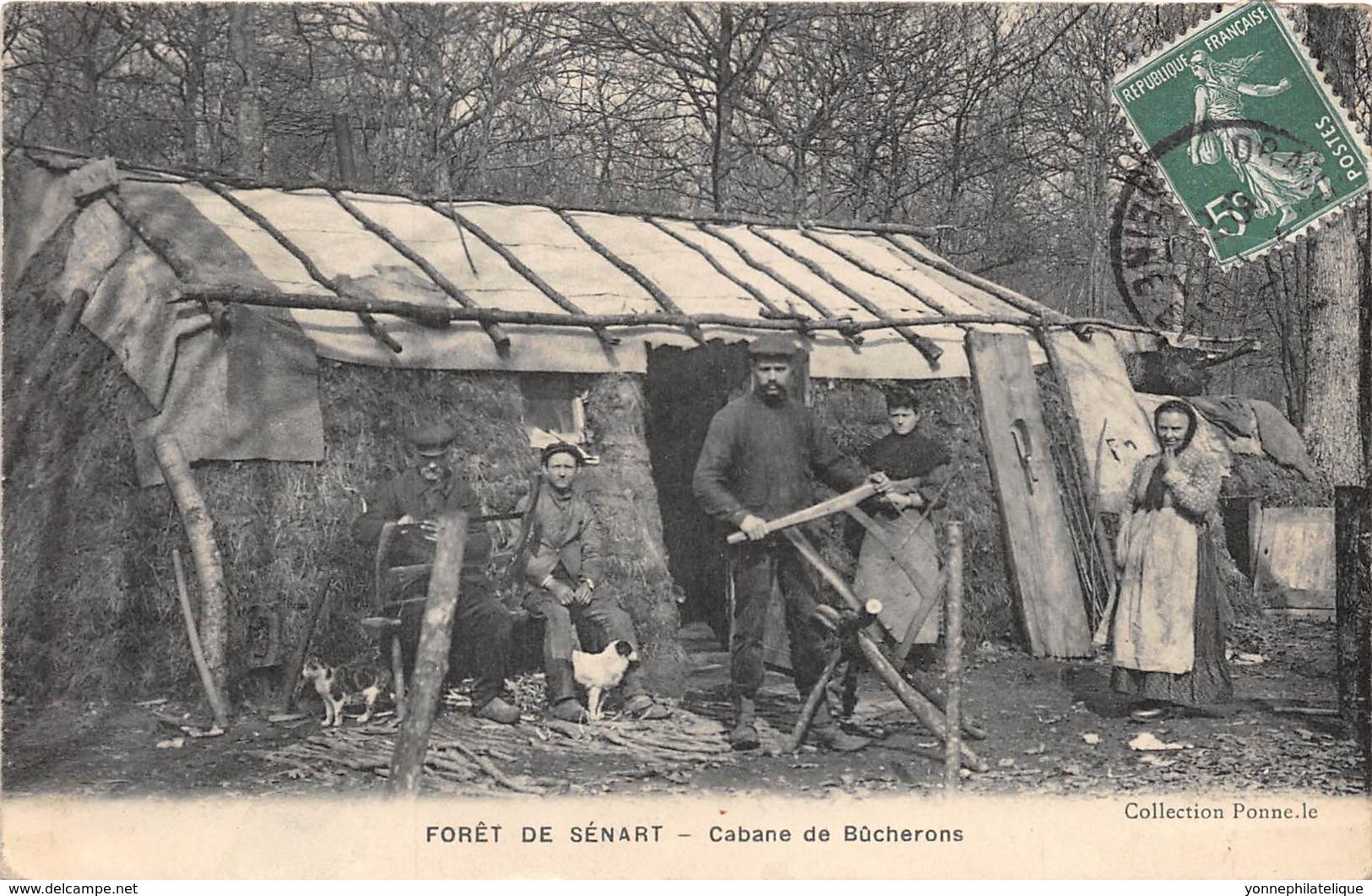 91 - Essonne / Forêt De Sénart - 911847 - Cabane De Bûcherons - Beau Cliché Animé - Défaut Au Verso - Autres Communes
