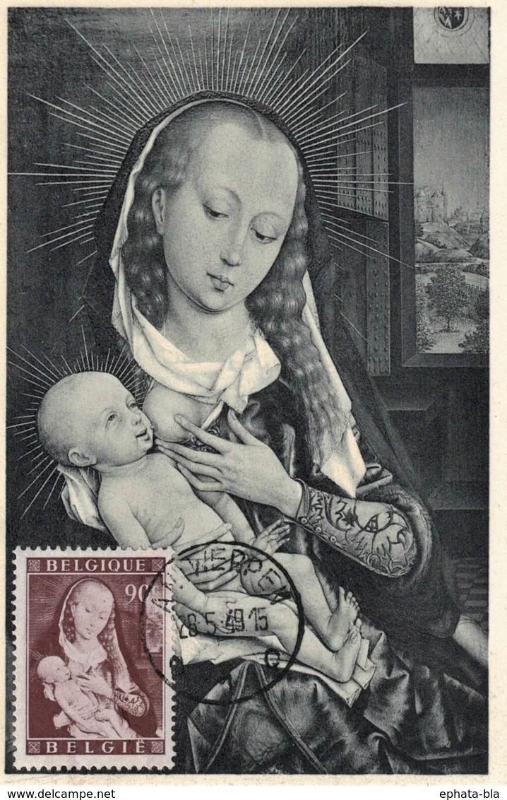 Belgique. Tableaux De Jordaerns Et Van Der Weyden 1949. COB N° 795/97. Anvers - Tournai - ....-1951
