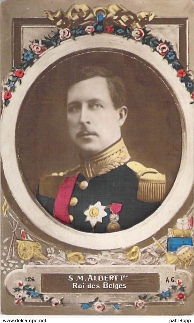 FAMILLES ROYALES Royal Families ( BELGIQUE ) S.M. ALBERT 1er Roi Des Belges - CPA Königliche Familien Koninklijke - Familles Royales