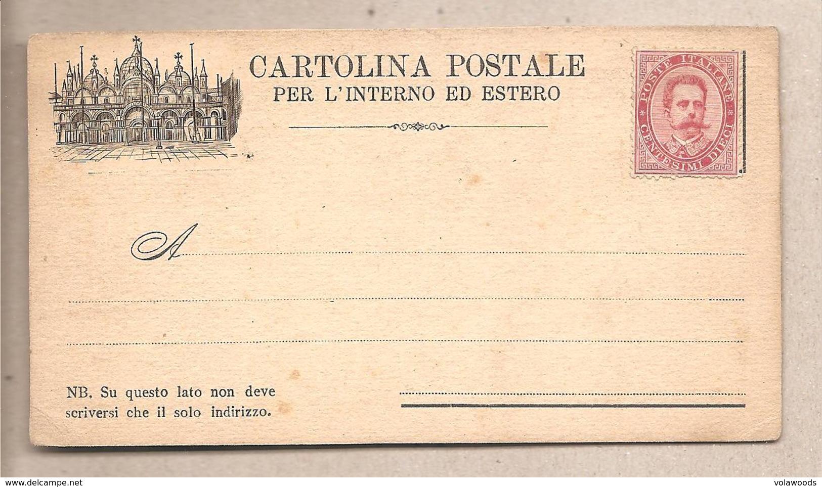 Italia - Cartolina Postale Nuova Per L'interno E L'estero - Piazza San Marco - 1879 - 1878-00 Umberto I