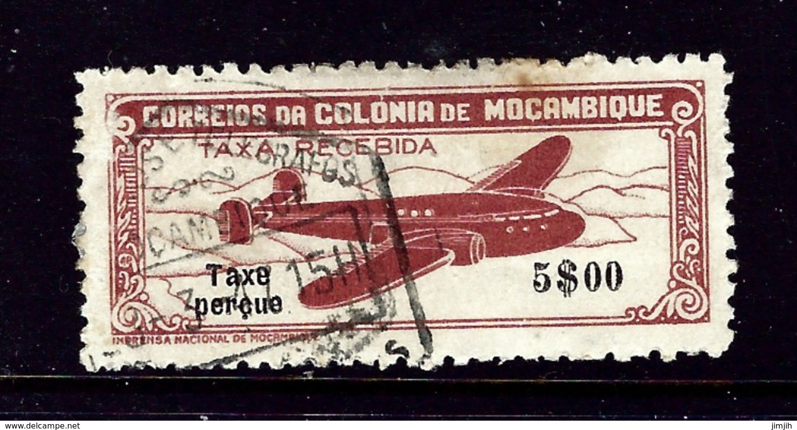Mozambique C20 Used 1947 Overprinted Issue - Mozambique