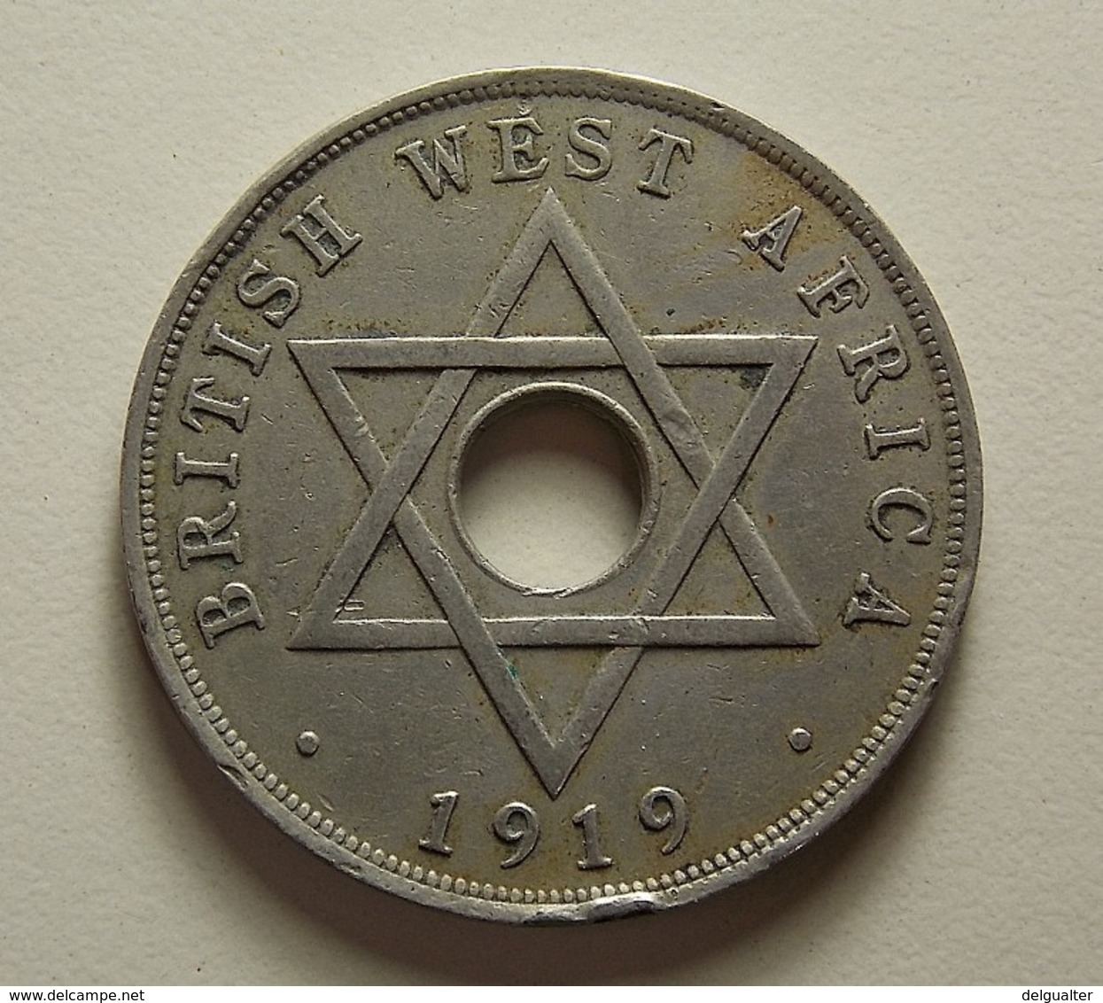 British West Africa 1 Penny 1919 H - Monnaies